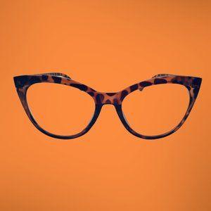 Betsey Johnson Reading Glasses Leopard Cat  +2.00